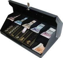 7 rekeszes fedeles bankjegytároló érmetálcával (BET-7F) - Strauss Metal