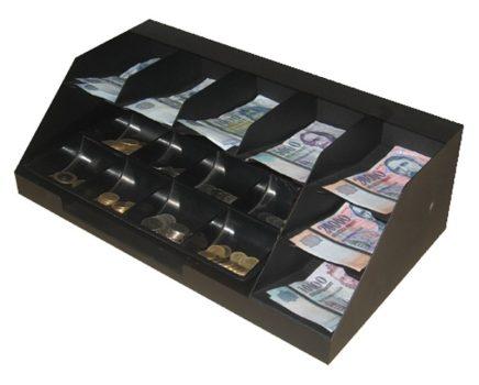 7 rekeszes bankjegytároló maroktálcával (BET-7) - Strauss Metal
