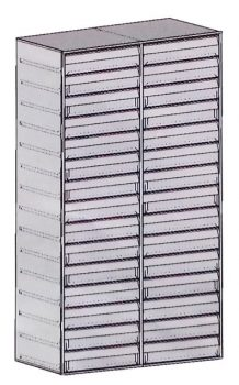 Fiókos betét (2 oszlop, 2x15 db fiók) Extra méretű páncélszekrényhez